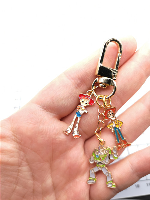 New 1 Set Cartoon Toy Story Keychain Jewelry Accessories Key Chains Pendant Gifts Favors