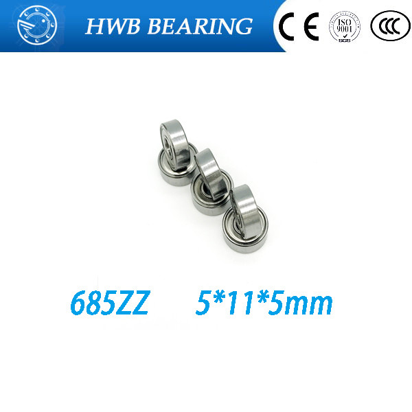 Free Shipping 10pcs  685ZZ 685-2Z 685 ZZ thin Wall Deep Groove Ball Bearing Mini Ball Bearing Miniature Bearing L-1150Z