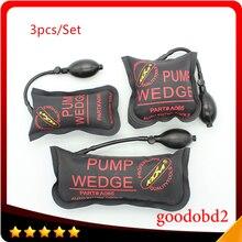 Small Medium Big Black KLOM PUMP WEDGE Airbag New for Universal Air Wedge LOCKSMITH TOOLS Lock Pick Set Door Lock Opener 3 PCS цена