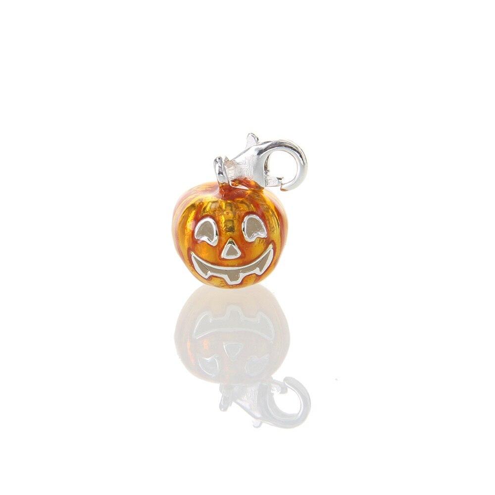 Muffiy Brand Silver Color Stereo Pumpkin Lantern Charm for Bracelet Glam Halloween Gift Casual Women Jewelry Trendy Kolye Bijoux