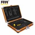NOVA Caixa de Ferramentas BaiTe 92 In1 Multi-função de chave de fenda set ratchet chave soquete ferramentas de manutenção Elétrica do Agregado Familiar