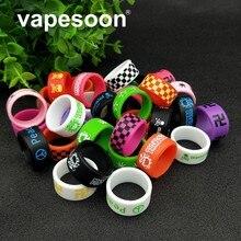 Newest Design 50pcs 26*12*2 Non Slip Rubber Vape Band Ring For TFV12 TFV8 IJUST S TANK Colorful E Cigarette Vape Ring