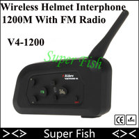 Motorcycle Bluetooth Helmet Intercom 6 Riders Interphone BT Motorcade Cross Country Skiing Headsets MP3 Wireles Intercomunicador