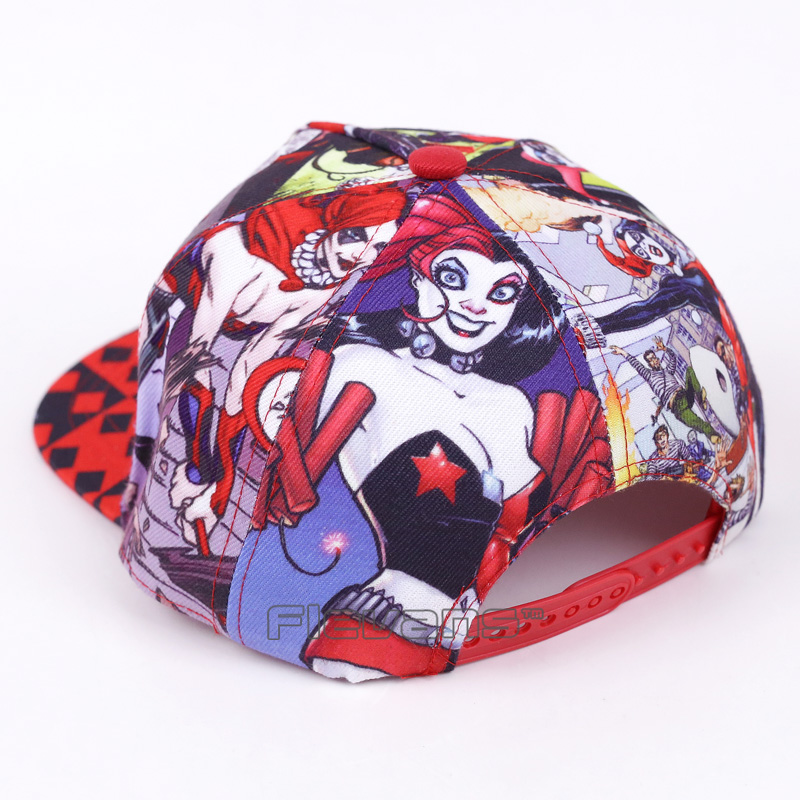 2017 Unisex Fashion Casual Baseball Hats Batman Harley Quinn Pattern Cap Summer Cotton Caps Women Snapback Hat