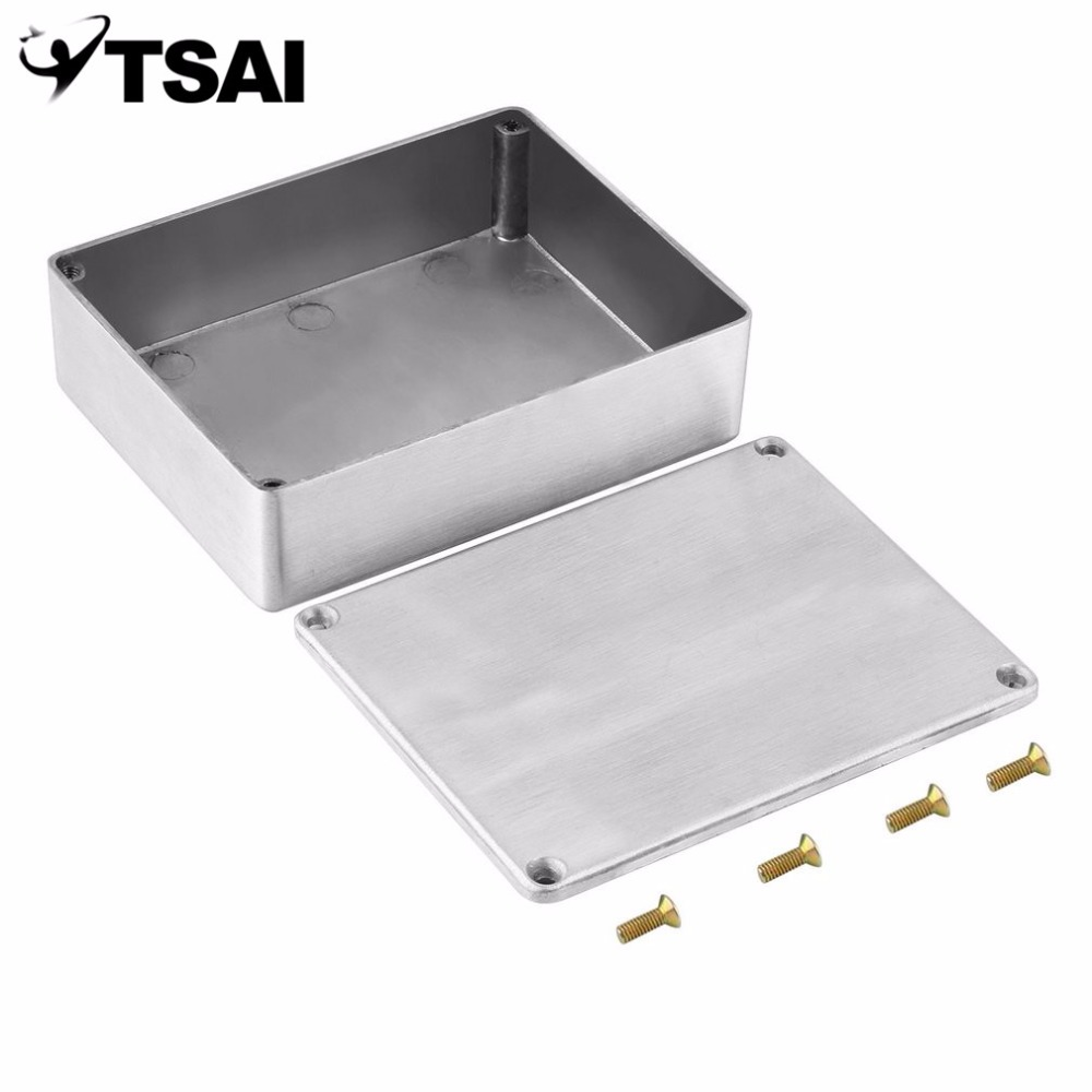 TSAI 1590BB Effects Aluminum Stomp Box Guitar Pedal Case Enclosure for Storage Guitar Shell Holder Free Shipping travel aluminum blue dji mavic pro storage bag case box suitcase for drone battery remote controller accessories