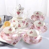 Mug of coffee cup set Guci tea flowers and tea