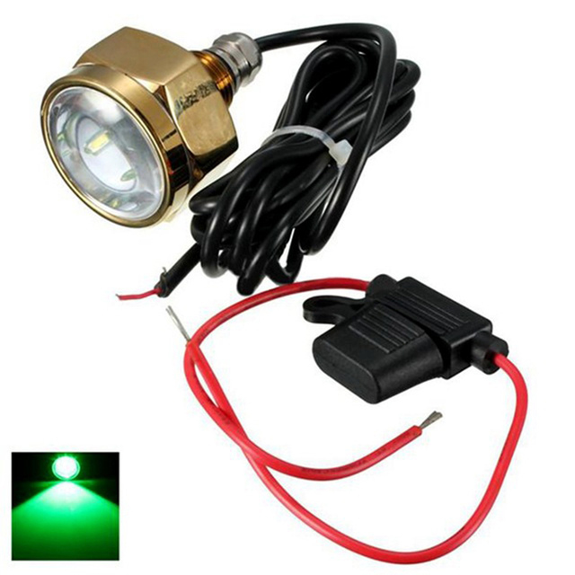 27W Titanium Alloy Boat Drain Plug Light LED Underwater Light Waterproof 11 28V Marine Boat Lamp