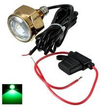 Lámpara LED subacuática de aleación de titanio para barco, 27W, luz de enchufe LED, resistente al agua, 11 28V