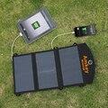 Amkey 18 W 3A Sunpower Painel Solar Dobrável Carregador Solar Portátil Banco de Potência USB Carregador com IC Inteligente Para Celular telefones