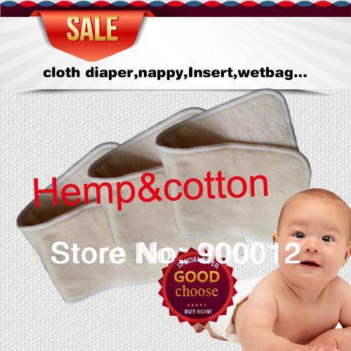 Pengiriman gratis bayi nakal rami katun organik 100 pcs 4 lapisan - Popok dan pelatihan toilet