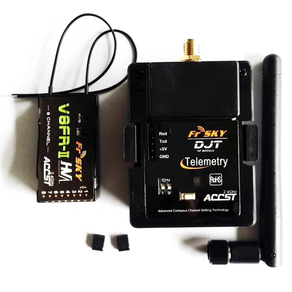 FrSky DJT 2.4Ghz Telemetry Module & V8FR-II RX Receiver Compatible For JR/Flysky/ Turnigy 9XR frsky djt jr 2 4ghz transmitter telemetry module