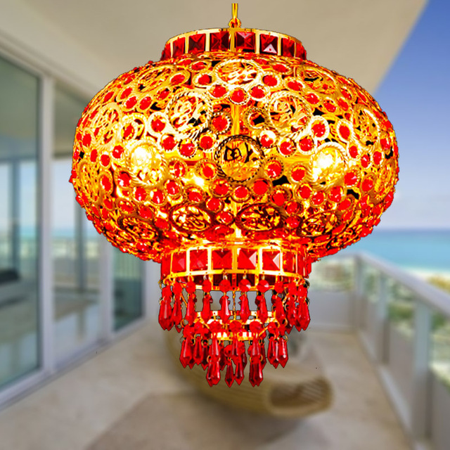 30 Cm K9 Rouge Lanternes Cristal Droplight Peut Tourner 360 Degrés