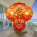 30CM K9 Red Lanterns Crystal Droplight Can Rotate 360 Degrees Chinese Lantern Pendent Lamp Ceiling Light Party Wedding Light