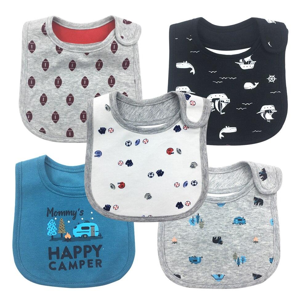 5pcs Bib Baby Bibs Baberos Babador Bavoir Carter Waterproof cute cartoon Embroidery prin ...