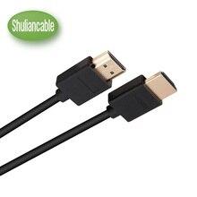 Shuliancable высокое Скорость HDMI мужчинами Расширение Удлинительный кабель Позолоченные поддерживает 1080 P и для Blu-Ray player3d 1 м 1ft