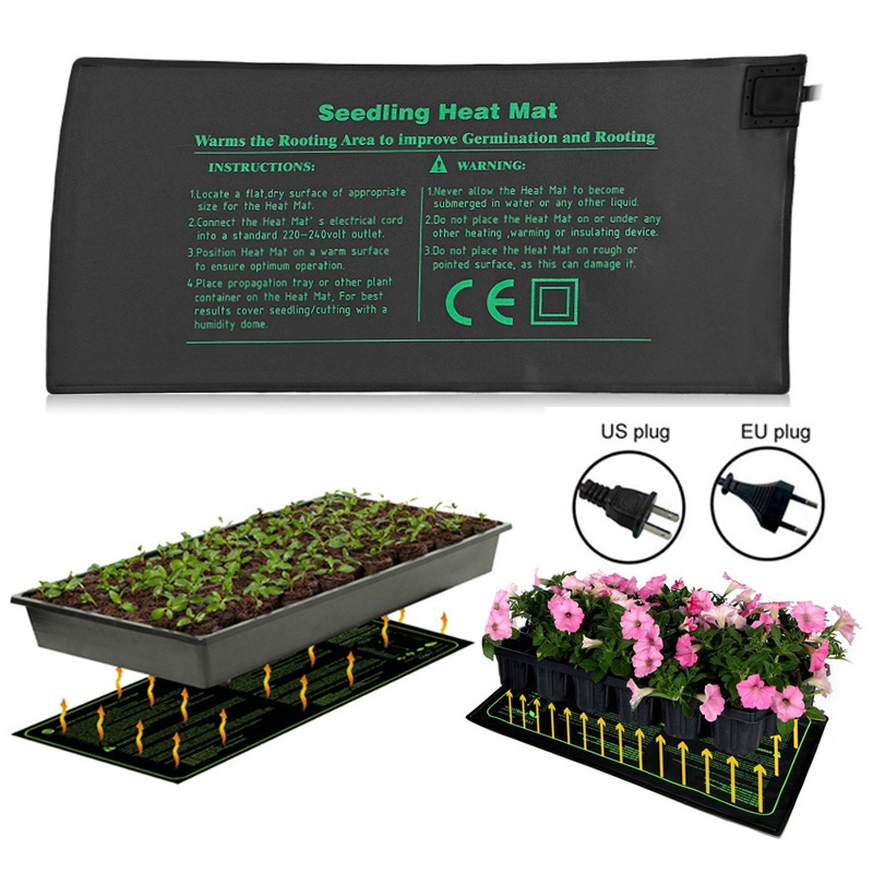 Seedling Heating Mat 50x25cm Waterproof Plant Seed Germination Propagation Clone Starter Pad US/EU Hydroponics Garden Supplies