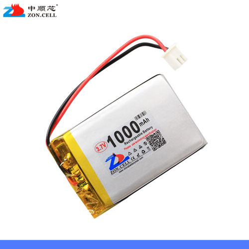 In 1000mAh <font><b>523450</b></font> 3.7V lithium polymer <font><b>battery</b></font> 603450 Wireless Cordless phone reading machine Rechargeable Li-ion Cell