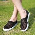 Superficie neta zapatos transpirables individuales, zapatos de las señoras en el verano de 2017 el nuevo nuevo de las mujeres de los zapatos planos Del Ocio zapatos transpirables