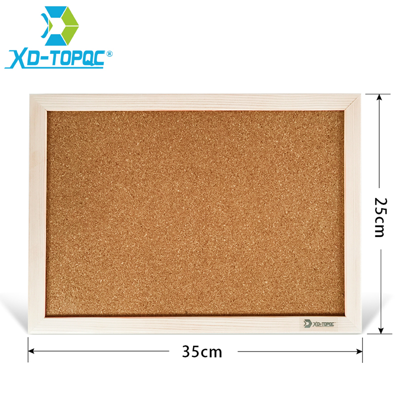 XINDI Cork Board 25*35cm Bulletin Board Message Boards Wooden Frame Pin Memo For Notes Factory Supplies Home Office Decorative 2