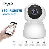 Security HD 1080P WIFI IP Camera 2mp 180 Fisheye Camera 720P Night Vision IR 10M 2 way Audio Intercom SD Card Slot Baby Monitor