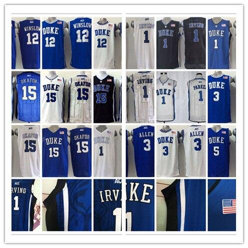 b44e8d80b1e Grayson Allen College Justise Winslow Basketball Tyus Jones Duke Blue  Devils Jersey Jabari Parker,Kyrie Irving,Jahlil Okafor