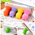 10PCS Mini Silicon Material Mobile Phone Tablet Holder Phone Suction Stand Pig Shape Color Random