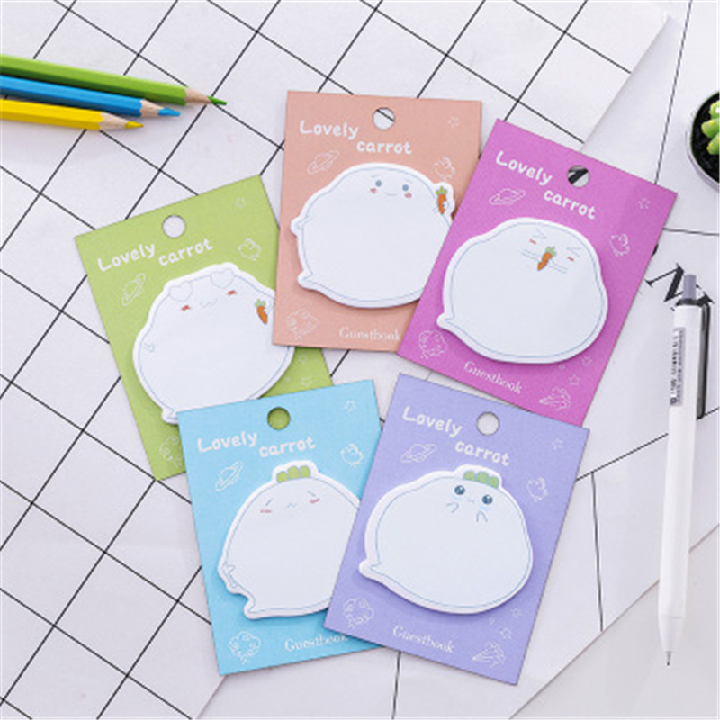 Creative cartoon post office supplies stationery stickers N expression dialog box tops notes stickers message pad