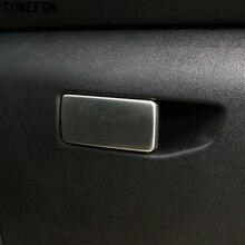 Для peugeot 308 бардачок декоративная рамка, обшивка, накладка, бардачок, ручка, наклейки из нержавеющей стали для автомобиля-Стайлинг 1 шт