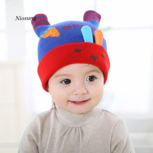 57b99fe29adae TC  Cute Baby Girl Boy Warm Knitted Cap Crochet Cap Infant Winter Beanie Hat  wholesale FN