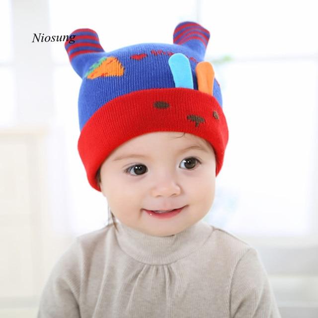TC   Lucu untuk Anak Laki-laki dan Perempuan Hangat Rajutan Topi Topi Rajut  Bayi e8804262a8