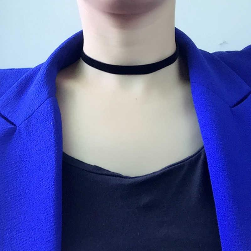 Nuovo Nero di Modo Girocollo in Velluto Collane vintage Donne Collares Bijouterie Gotico Punk Del Collare Dei Monili di Costume Collier Gingillo