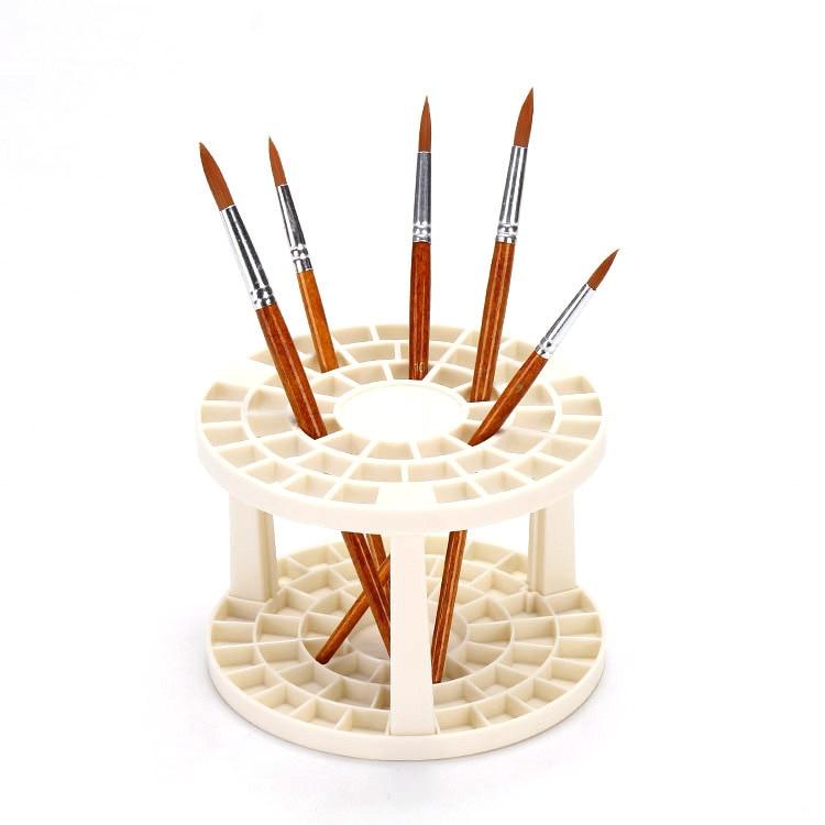 Function Porous Insert Penholder Oil Painting Brush Holder Desktop Accept Frame Plastic Pen Container Art Supplies