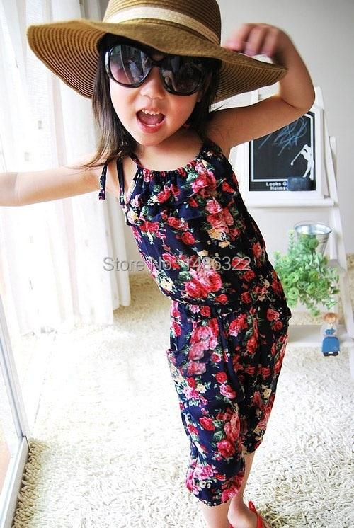 Dziecko Berbeć Dziewczyny Dzieci Lato Bez Rękawów Kwiatowy - Ubrania dziecięce - Zdjęcie 3