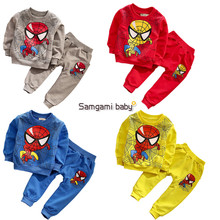 2016 new Spiderman Children Boys Suits Clothing Baby Boy Spider man Sports sets Kids 2pcs Sets Spring Autumn Clothes Tracksuits