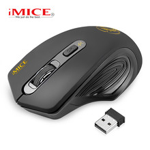 iMice Wireless Mouse Silent Computer Ergonomic USB PC Mause Optical Mice Noiseless Button For Laptop