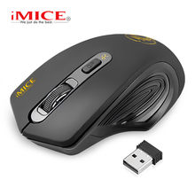 iMice Wireless Mouse Silent Computer Mouse Wireless Ergonomic Mouse USB PC Mause Optical Mice Noiseless Button For PC Laptop(China)