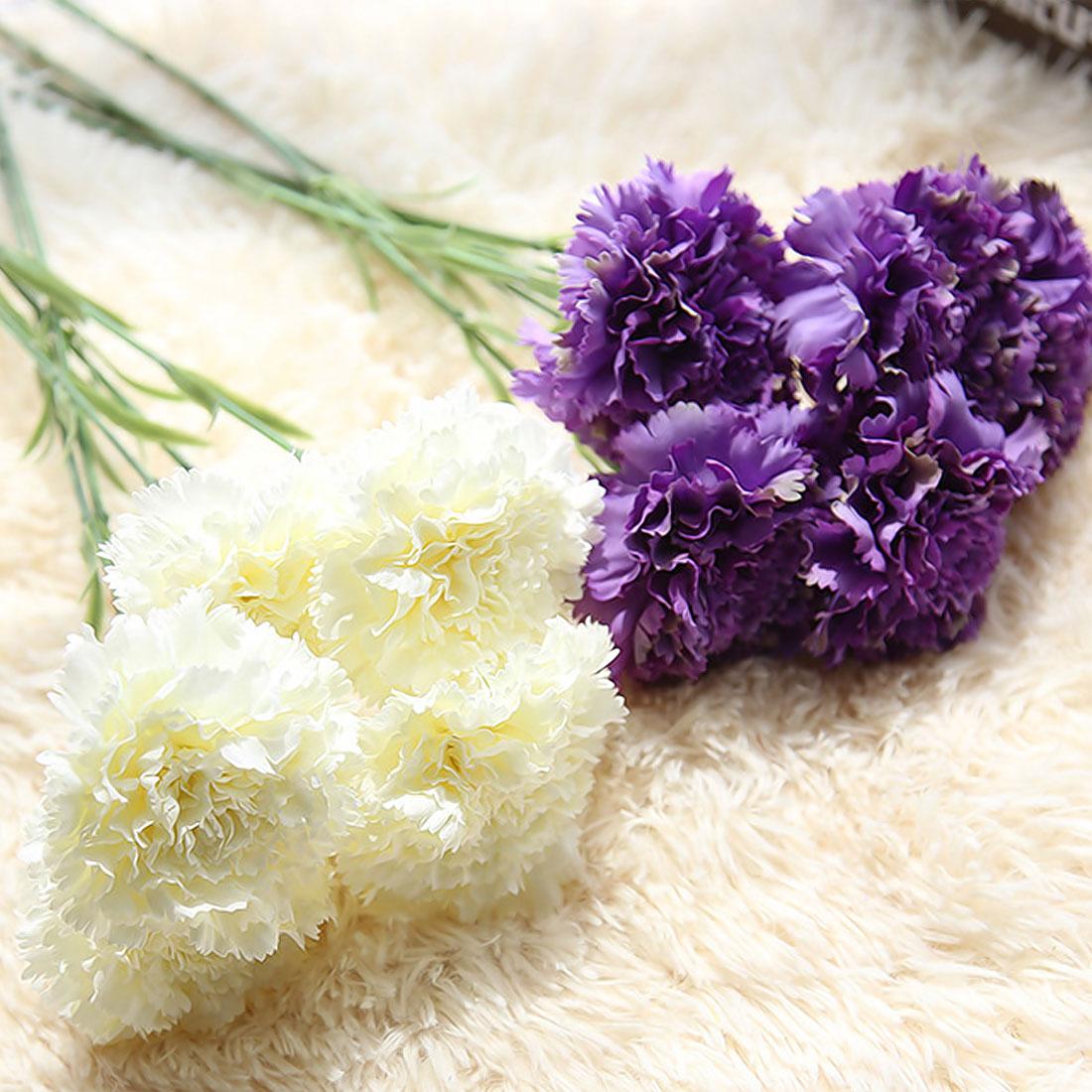 Fake Flowers 1pc Diy Fresh Artificial Flowers Carnation Silk Flower