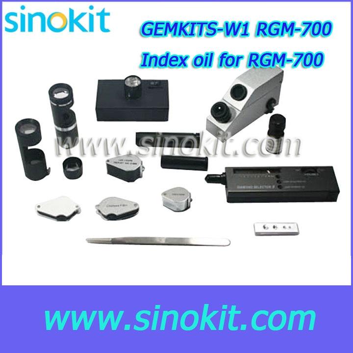 Free Shipping Gem Refractometer RGM-700/Polariscope/dark field loupe/ruby filter/diamond tester Gem Test Tool Kit - GEMKITS-W1 бра eglo basilano 1 39105