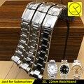 Ремешок Для Rolexwatch Прочной Нержавеющей стали Смотреть группы Браслет Часы Аксессуары Серебро 20 мм 22 мм Daytona Подводника + Инструменты