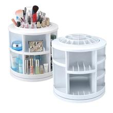 Rotating Spinning Organizer Cosmetics Display Make Up Storage Box Holder White Storage Rack