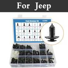 Car Push Pin Retainer Clip Fastener Tool Kit – 415pcs Storage Box Set Install Rivet For Jeep Liberty Renegade Wrangler Commander