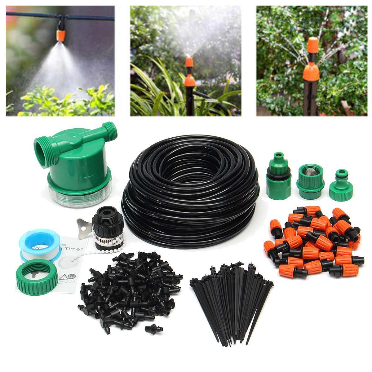 122 pièces 25 M bricolage système d'irrigation goutte à goutte automatique jardin tuyau d'arrosage Micro goutte à goutte système d'arrosage Kits