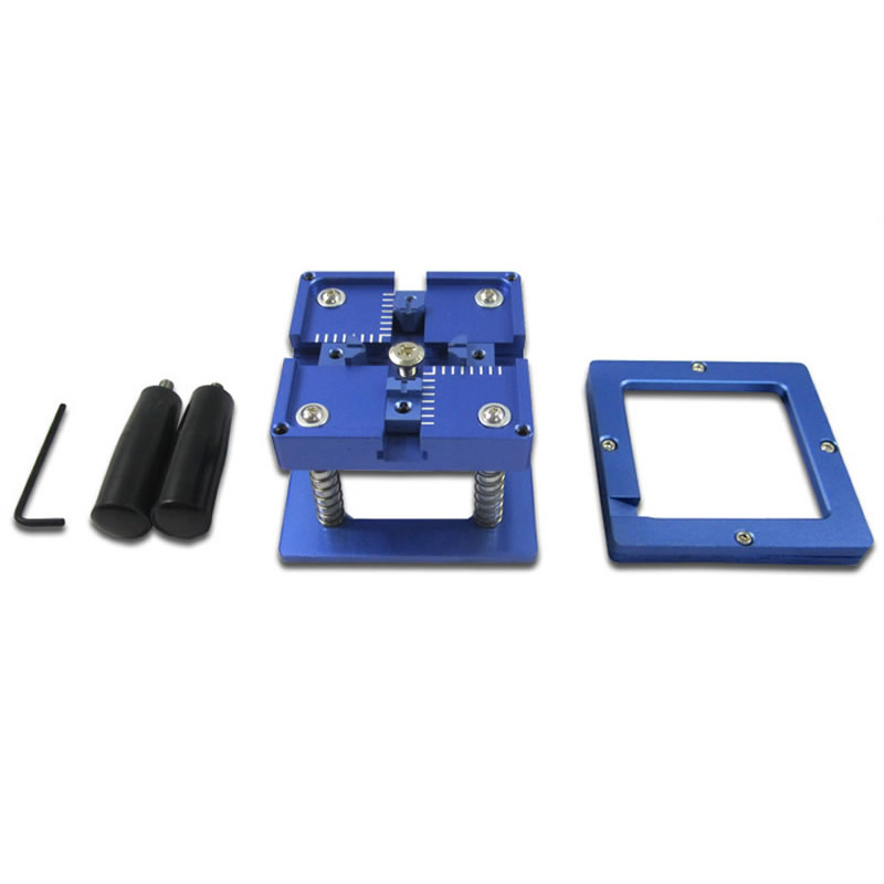 BGA Reballing Station with Handle For 90mm x 90mm Stencils Holder Template Fixture Jig for BGA Rework Repair bga reballing kit bga reball station with handle 90mm x 90mm stencils template holder jig