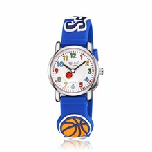 Sports Basketball Fashion child Waterproof 3D Lorry Cartoon Design Analog Wrist Watch Children Clock kid Quartz Wrist Watches