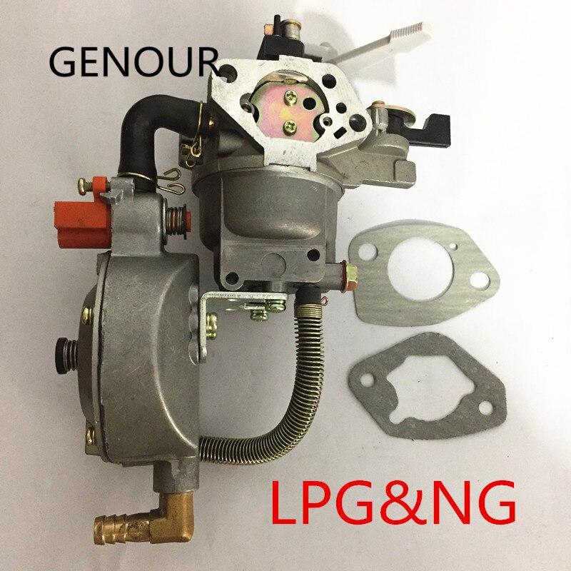 188F/190F lpg & CNG vergaser für BENZIN LPG UMBAUSATZ, LPG umbausatz für Gasosline Motor GX390 GX420 vergaser