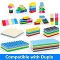 A granel grandes bloques de construcción de partes de accesorio 2*4 2*2 2*8 4*8 6*8 8*8 6*12 100% compatible ladrillos diy juguetes educativos