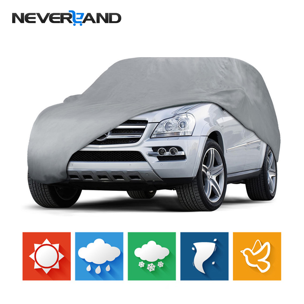 Outdoor Full Car Cover Sun UV Snow Dust Resistant Protection Size L XL Car Covers brand new oil cooler cover for 4be1 4bc2 4bf1 npr ks22 8 94438 371 0 oil cooler covers