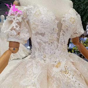Image 2 - AIJINGYU boda diseñador una vestidos hecho asequible real Aliexpress Sexy 2021 2020 vestido de novia tamaño 18 vestido de novia nuevo estilo