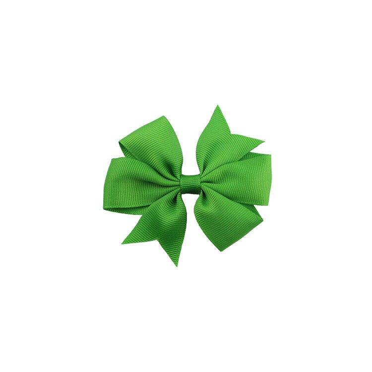 40 цветов сплошная корсажная лента банты заколки шпилька девушка бант для волос, бутик заколки для волос аксессуары для волос - Color: a30 Deep Green