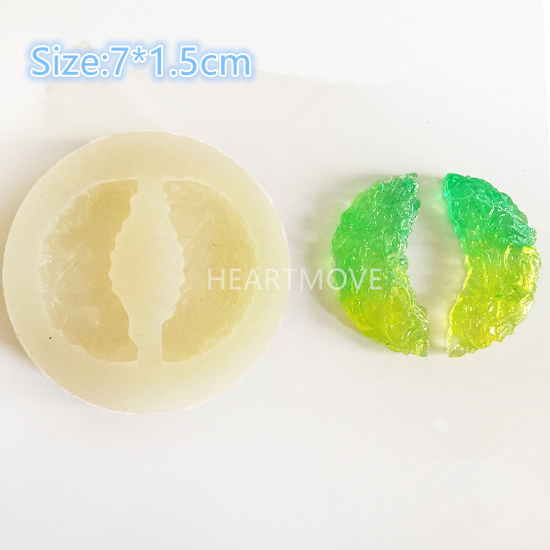 HEARTMOVE Jade Pendant Silicone Mold DIY Resin Jewelry Pendant Necklace Pendant Mold Cry ...